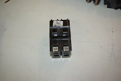 FPE Federal Pacific NA 220 Stab Lok 20 Amp 2 Pole Breaker Thick