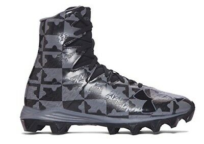 NEW - Under Armour Highlight RM Youth Gray/Black Football Lacrosse Cleats - 5.5