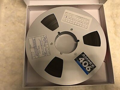 Lot of 4 Ampex 406 Reel-to-Reel 1 Inch Tapes