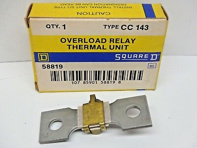 SQAURE D THERMAL UNIT HEATERS *SET OF 3*  CC143  *NEW OLD SURPLUS IN BOX*