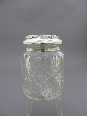 Simons Bros & Co Sterling Silver/ Cut Glass Humidor