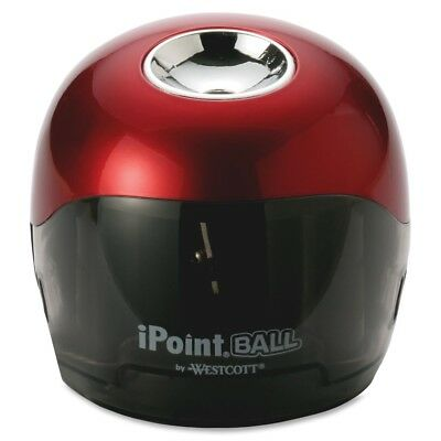 Westcott iPoint Ball Battery Sharpener, Red/Black, 3w x 3d 3 1/3h, 1-Count
