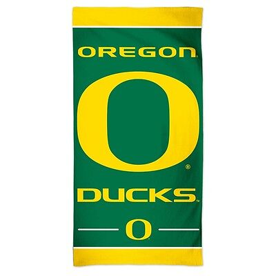 "Oregon Ducks 30""x60"" Fiber Reactive Beach Towel Brand New Free Shipping Wincraft"