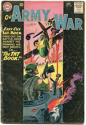 Our Army At War #134 1963-D.c. War Silver-Age-Sgt. Rock G