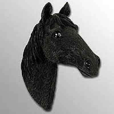BLACK/WHITE HORSE FUR MAGNET! Start collecting Horse,Dogs,Birds & Animal Magnets
