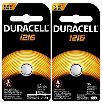 CR 1216 DURACELL LITHIUM BATTERIES (2 piece) 3V watch New Authorized Seller
