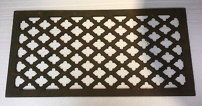 Vintage Antique Cast Iron Grate Air Return Heat Register Victorian 28 x 14