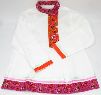 Russian Shirt *Infant's Extra Small *White Cotton Blend *for Child or Large Doll