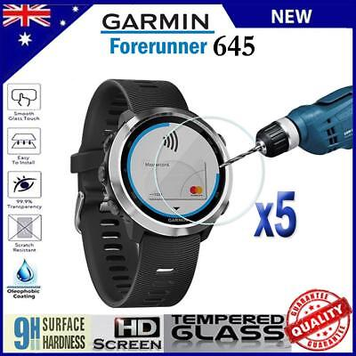 5x Tempered Glass Screen Protector Film Guard For Garmin Forerunner 645 Music