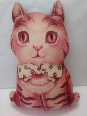 Vintage 70s CHARLIE KITTEN cotton PILLOW  cut n sew Excellent condition handmade