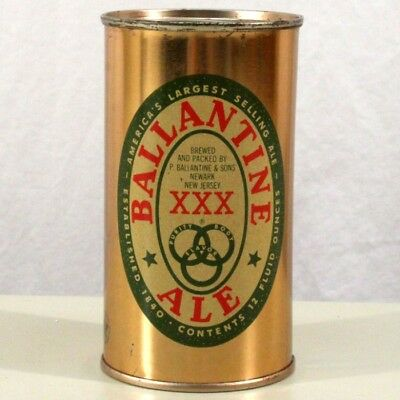 Ballantine XXX Ale Flat Top Beer Can Newark New Jersey 32-20 -CLEAN-