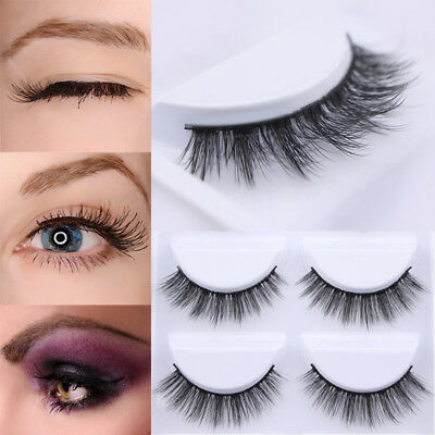 5Pairs Mink Soft Eye Lashes Long Natural Thick Makeup Eyelashes Extension Lashes