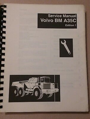 Volvo A35C Articulated Hauler Truck Service Manual Shop Repair Book Edition 1