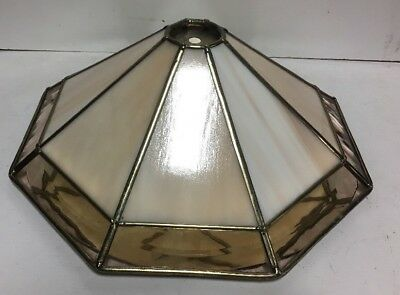 """Stained Glass Slag Hanging Lamp Fixture Shade Table Lamp 15""""w"""