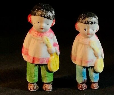 Vintage - Bisque Penny Doll - Frozen Charlotte -Girls & Ukuleles -JAPAN