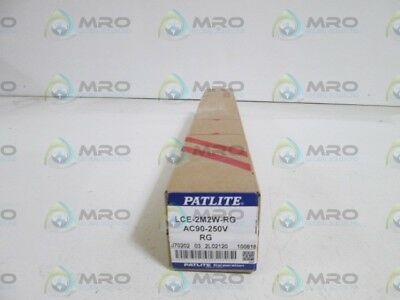 Patlite Lamp Tower Lce-2M2W-Rg *new In Box*