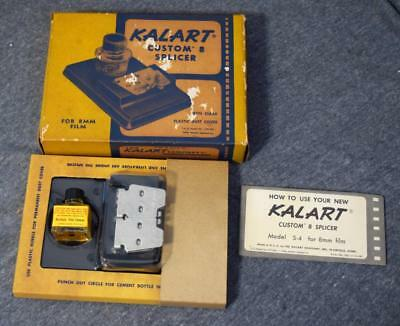 Vintage Kalart Custom 8 Splicer For 8mm Film NIB w/Kodak Film Cement