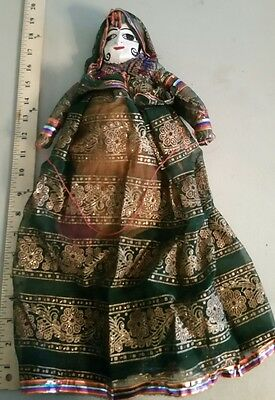 """India Hand Crafted String Puppet Princess Wood Wood Face 18"""" Asia Royal Queen"""