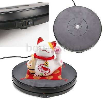 US 10KG 25cm 3D Display Stand Heavy Duty Turntable 360° Rotating 220V Electronic