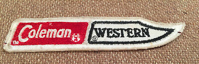 vintage coleman western knife sew on cloth patch