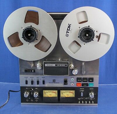 """TEAC A-6100 PRO Reel to Reel  10"""" TAPE RECORDER 2/4 TRACK """"  VIDEO & Tapes incl!"""