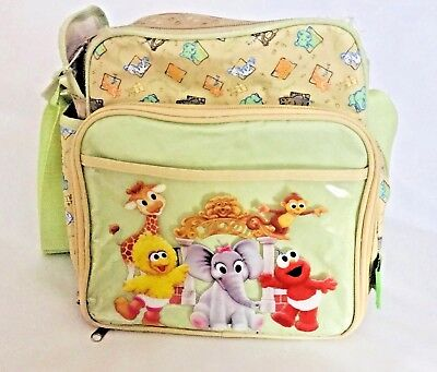 Vintage Sesame Street Beginnings Big Bird, Elmo Baby Bottle Diaper Bag