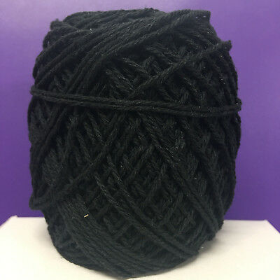 1.5mm-2mm Black Cotton Rope - macrame/pot hanger/loom/weave/boho/wallart