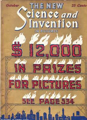october 1923 science and invention magazine science fiction pulp ray
