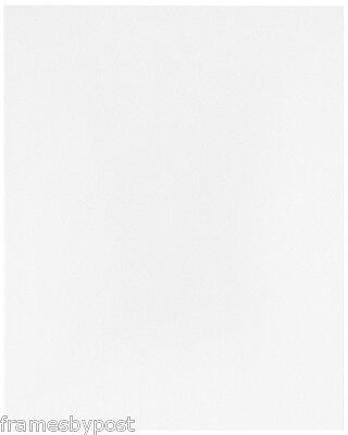 Pack of 5 Acid Free 1.4mm Single White Mount Board Backing Boards Multiple Sizes