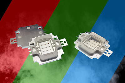 10W RGB High Power LED 300ma-330ma - Red Green Blue