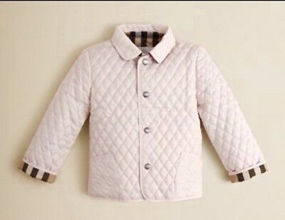 Nwt Girls Burberry Black Long Quilted Coat Size 10 Years 38000
