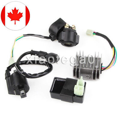 Ignition Coil Relay Rectifier CDI Kit for Chinese ATV Quad 150cc 200cc 250cc CAN