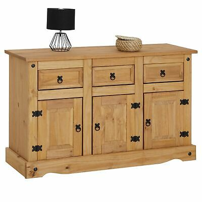 Sideboard Kommode Anrichte Highboard Mexiko Möbel Kiefer massiv, 3 Türen