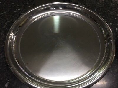 Heavy Duty Circular Stainless Steel Serving Tray