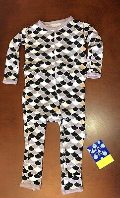 Kickee Pants Midnight Scales Infant Boy Coverall 6-12 Months New