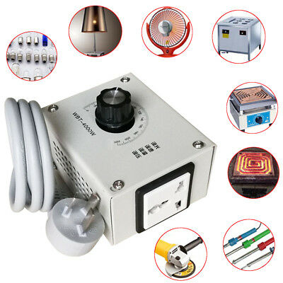 4000W Variable Voltage Controller For Temperature Dimmer Fan Speed Motor AC 220V