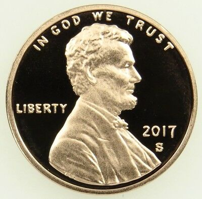 2017 S Deep Cameo Proof Lincoln Shield Cent Penny (B03)