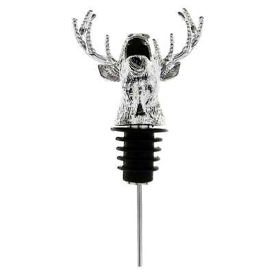 Mini Metal Deer Stag Head Shaped Wine Pourer Creative Ornament Gift for Bar