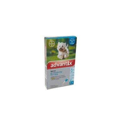 BAYER Advantix Spot On Antiparassitario per cani 1 Pipetta 1 ml 4-10 Kg