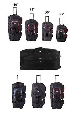 "XXL Extra Large Wheeled Travel Luggage Trolley Holdall Suitcase 40"" 34"" 30"" 27"""