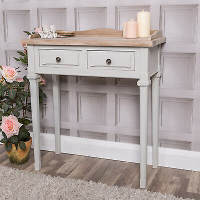 Grey Dressing Table Console Hall Table Traditional French Vintage Chic Furniture