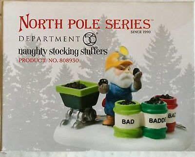 Department 56 North Pole Series Naughty Stocking Stuffers #808930 Elf Coal Miner