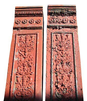 Salvage Ornate Cast Iron Building Pilasters