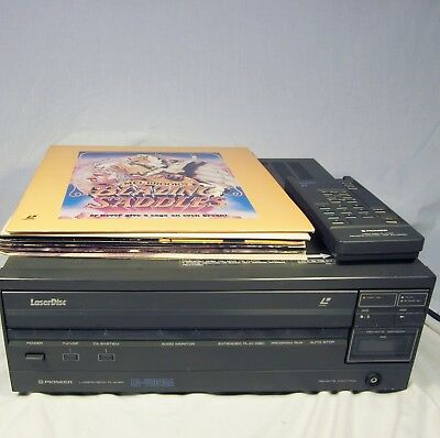 Vintage Pioneer LD-V6010A Laserdisc Player with Remote and 6 Comedy Discs WORKS