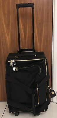 MULBERRY Black Henry Leathertrimmed Nylon Wheeled Duffle Bag Suitcase SOLD  OUT! 917f2f72ebcae