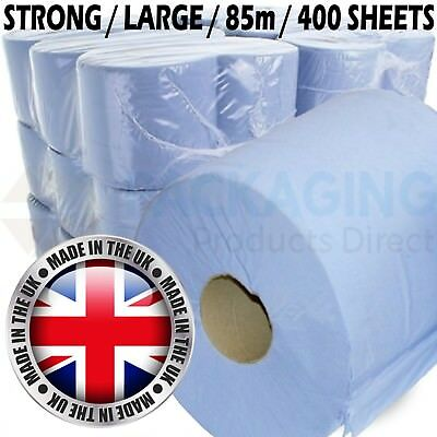 Premium Blue Centrefeed Embossed 2ply Wiper Paper Towel 180mm x 85M Per Roll