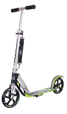 Modell 2018 Hudora Big Wheel GS 205 Scooter 14695/02 Roller anthrazit/grün
