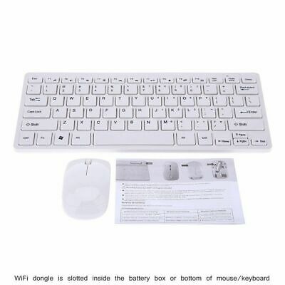 2.4G Ultra-Slim Mini Wireless Keyboard and Mouse Combo for PC Desktop WT US