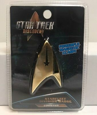 Star Trek Discovery QMx Magnetic Insignia Starfleet Command Division Badge , NEW