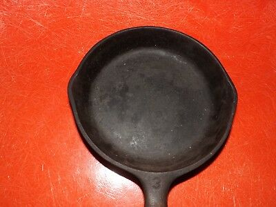 Vintage Wagner Ware  C #3 Cast Iron Skillet Pan Double Spout  Made USA 6 1/2""